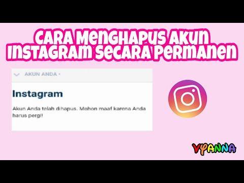 Cara Menghapus Akun Instagram Secara Permanen Youtube Instagram Youtube Penghapus
