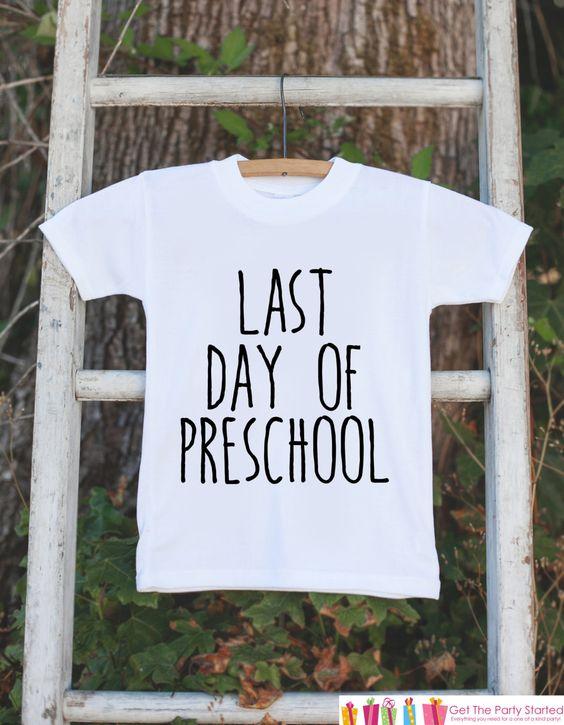 Last Day of Preschool Shirt - Preschool Graduate - Preschool Graduation Outfit - Kids Last Day of School Tshirt for Boys or Girls - Clothing