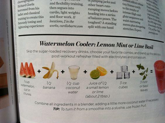 My FAVORITE Summer drink! Watermelon Cooler: Lemon mint or Lime basil ...