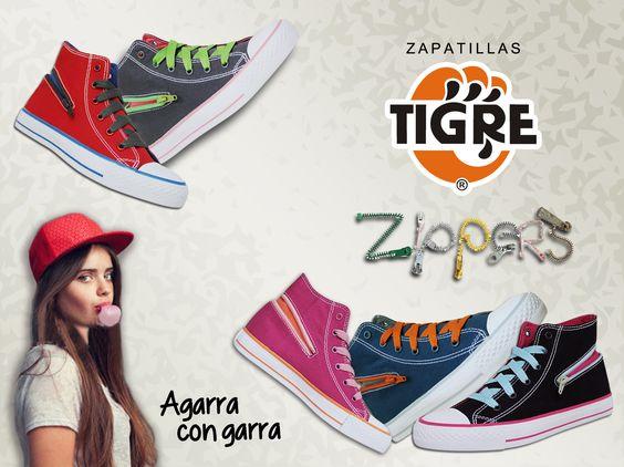 La nueva colección Zipper de Zapatillas Tigre están bravazas... consíguelas en www.zapatillastigre.com