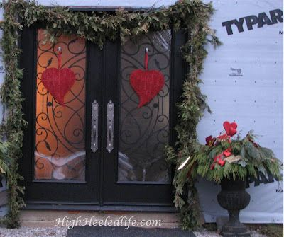 Valentine's Day Home Decor  (transformed from Christmas decor)