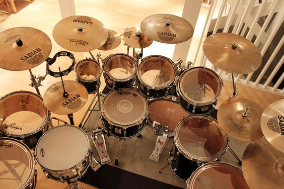 Used Drum Kits Sonor Drums Best Drums Pinterest Drum Kit - Putting paint on a drum kit creates an explosive rainbow