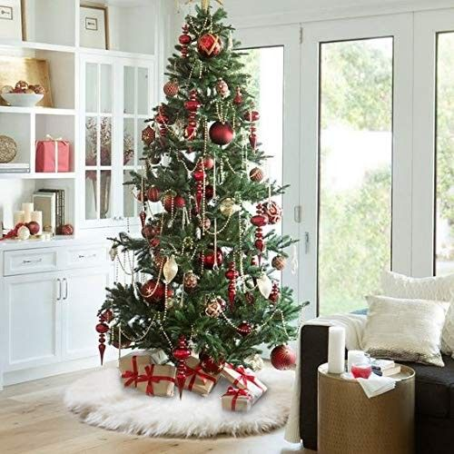 48 Inches Christmas Tree Skirts White Plush Faux Fur Tree Ornaments Thick Xmas Tree Skirt For Christmas Decoration New Year Party Ca18h9i63em Christmas Tree Decorations Beautiful Christmas Decorations Christmas Decorations