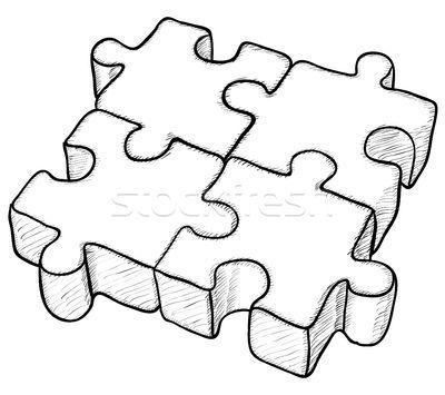 Desenhos abstratos preto e branco vetor pesquisa google - Puzzle dessin ...