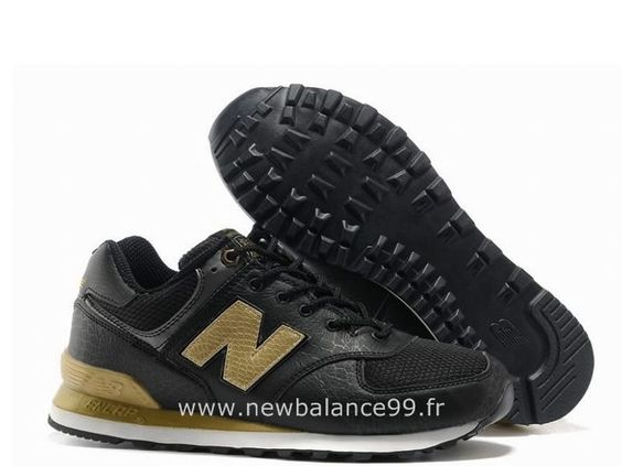 New Balance Doré Et Noir