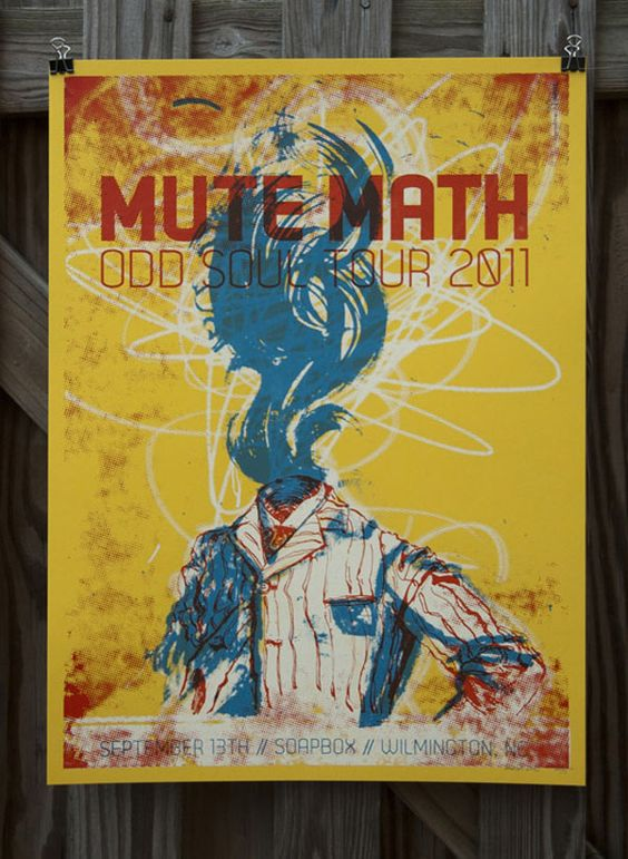 Mute Math gig poster - For Print Only