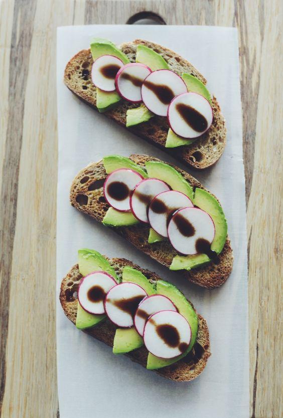 Avocado-Radish Toast