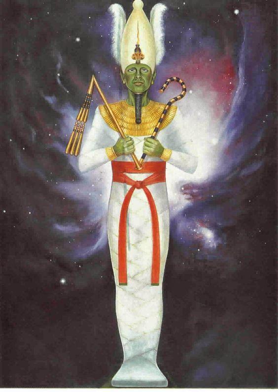 Osiris -Osiride era il dio egiziano degli inferi, oltre che della fertilità e dell'agricoltura. Nel Duat, l'oltretomba, Osiride pesava i cuori dei morti su un piatto della bilancia, mentre sull'altro vi era una piuma. Le anime che pesavano di più a causa dei peccati venivano date in pasto ad Ammit, divinità con la testa di coccodrillo, mentre quelle che erano abbastanza leggere venivano mandate da Aaru.: