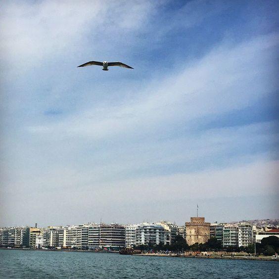 Thessaloniki from sea