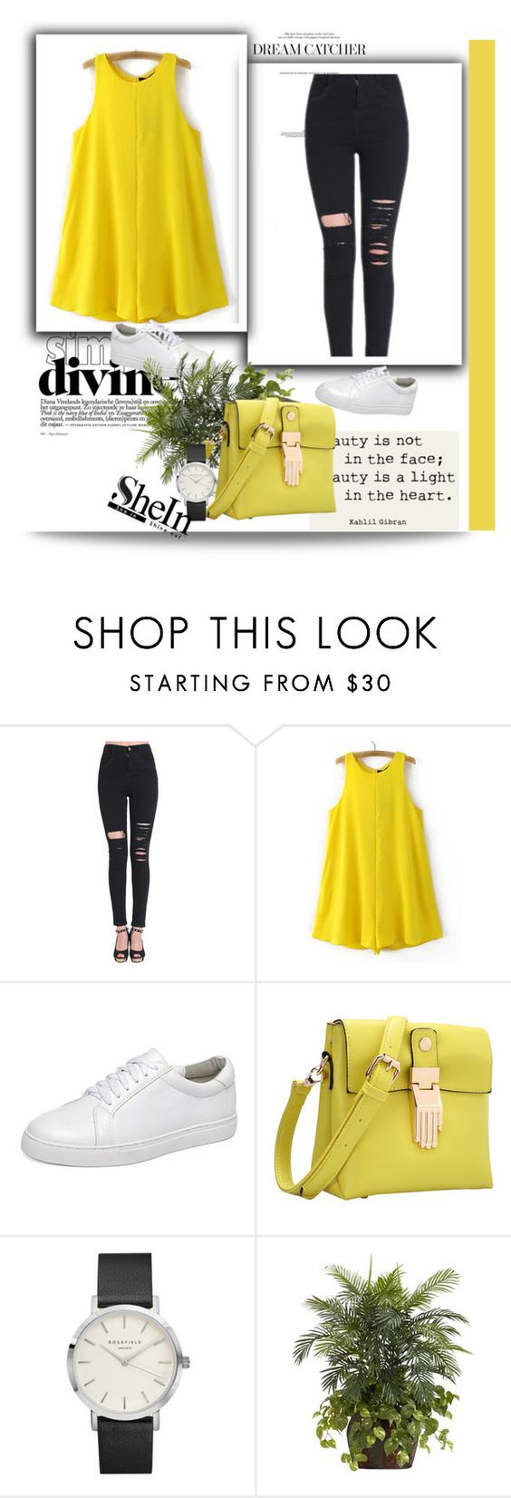"""""""Shein 8 / 10"""" by mell-2405 ❤ liked on Polyvore featuring Nearly Natural"""