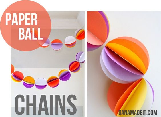 Paper Ball Chain Tutorial by MADE