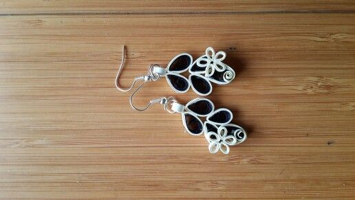 Quilled earrings by Smita.
