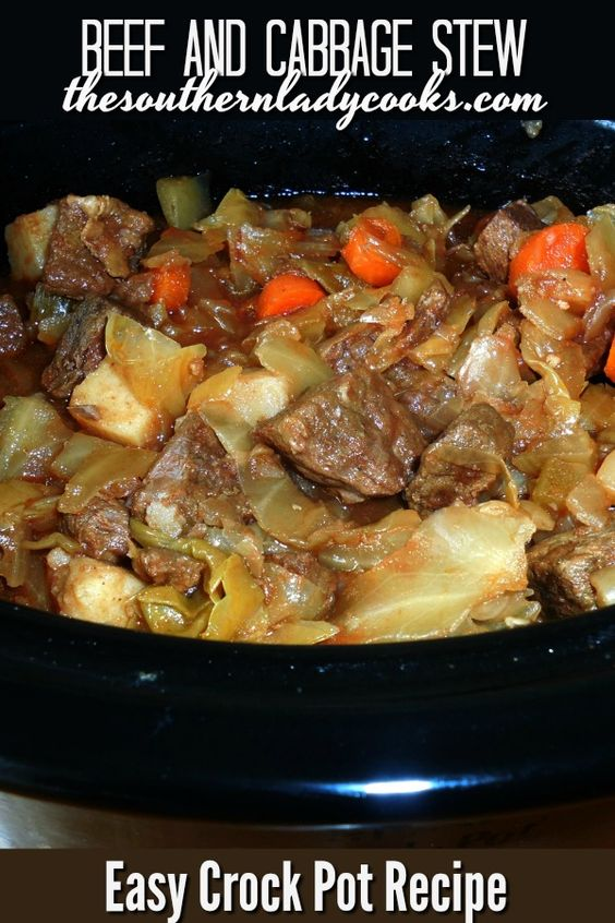 CROCK POT BEEF AND CABBAGE STEW