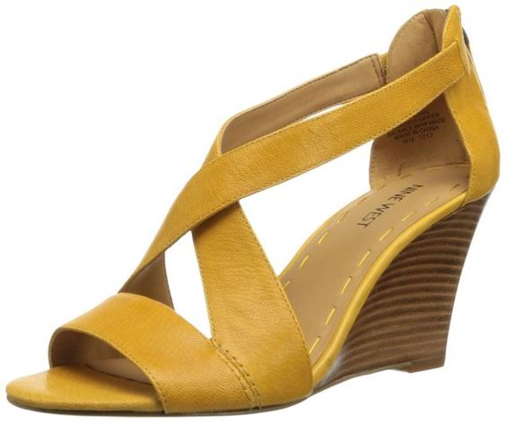 Nine West Women's Fichel Dress Sandal,Yellow,12 M US