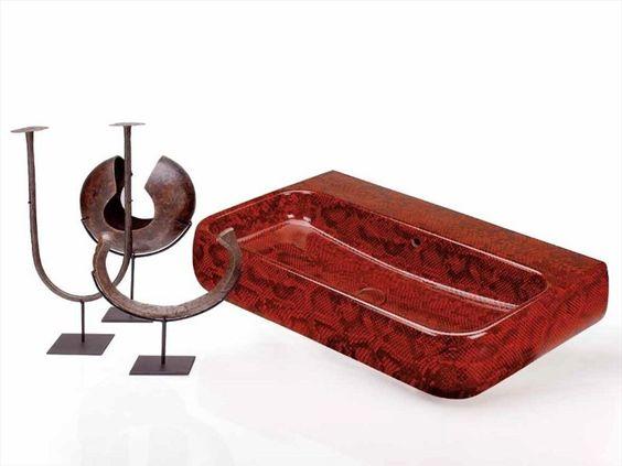 Lavabo suspendido de cerámica MONTY Colección Jungle by Ceramica Cielo