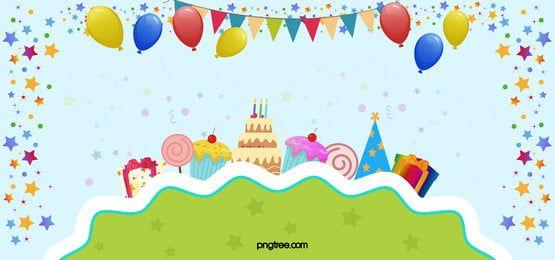 Krasivyj Vishnevyj Fon Birthday Banner Background Balloon Cartoon Birthday Background Design