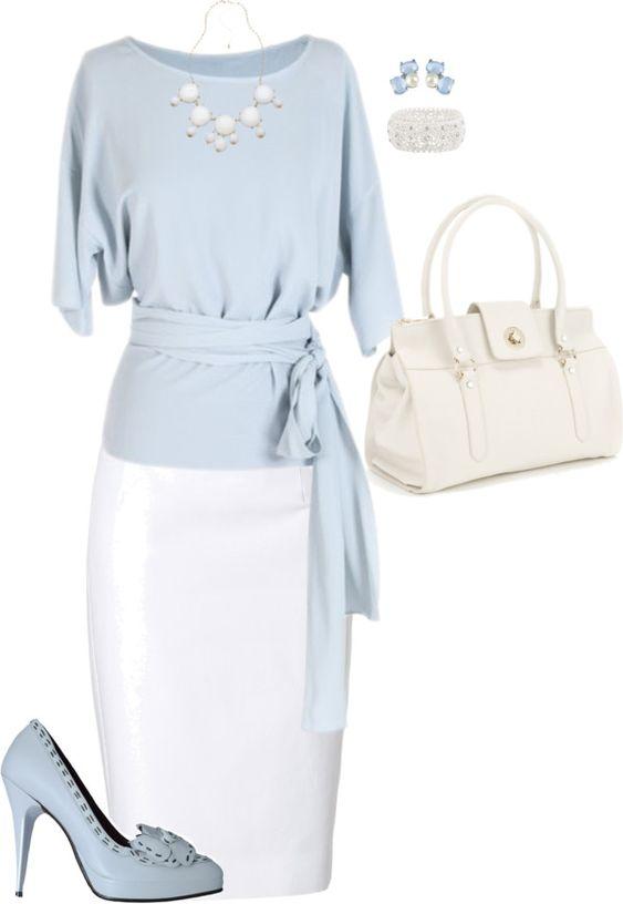 Celeste pastel y blanco.... sencillo y elegante :):
