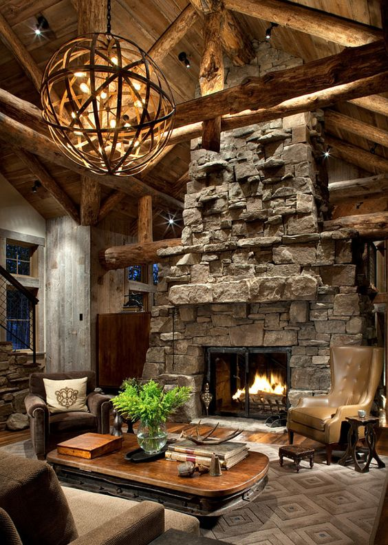 40 awesome rustic living room decorating ideas rustic interiors bricks and interiors - Rustic Living Room Decor Pinterest