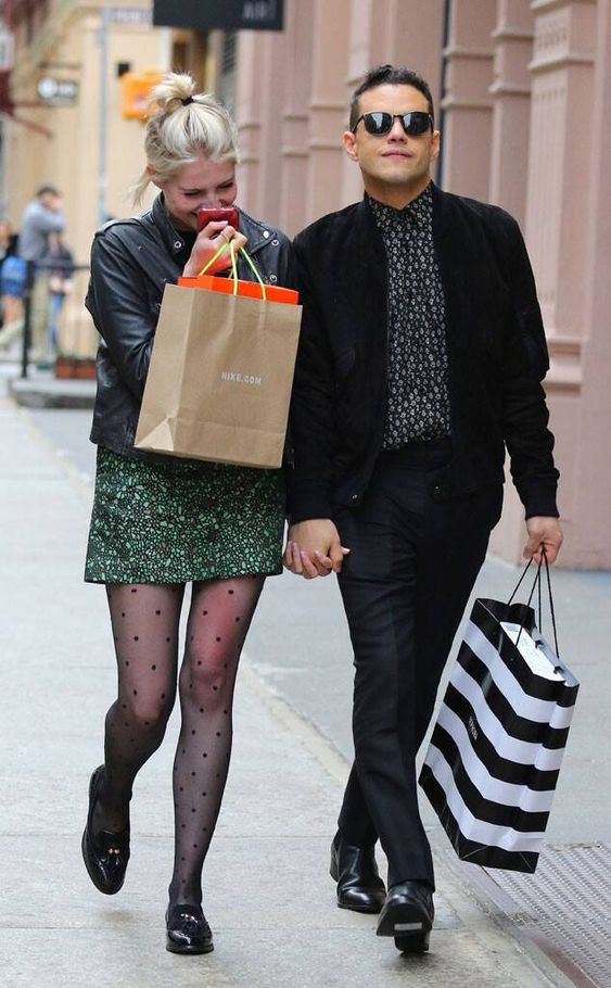Rami Malek & Lucy Boynton from The Big Picture: Today's Hot Photos  The Bohemian Rhapsody actor and his girlfriendwere spotted laughing and shopping around Manhattan in NYC.