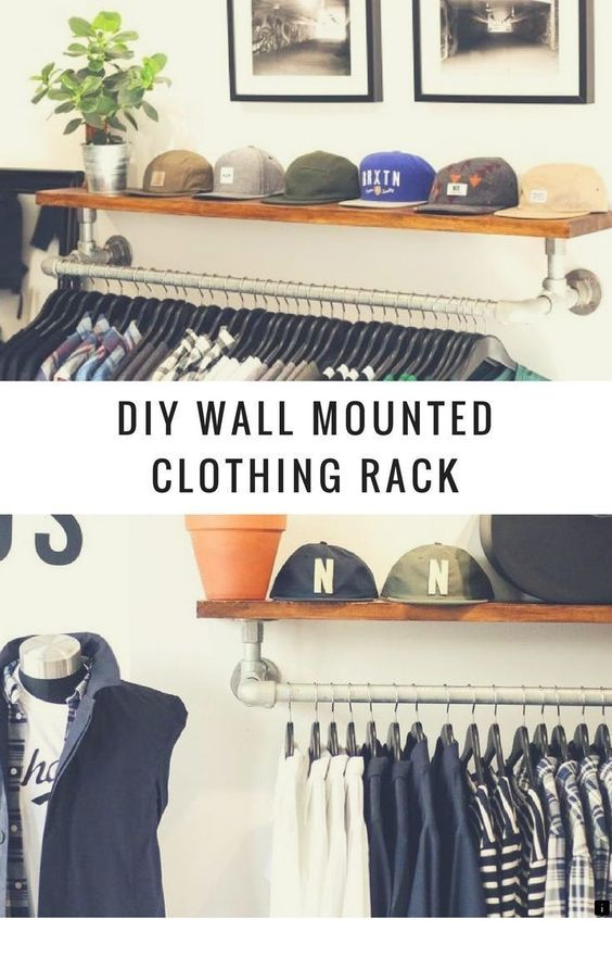 Check This Website Resource Read More About Tv On Wall Please Click Here To Learn More Wall Mounted Clothing Rack Diy Clothes Rack Clothing Rack