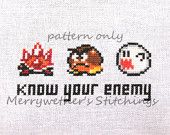 Legend of Zelda - Link's Awakening - Band Sampler Cross Stitch PATTERN. $5.00, via Etsy.
