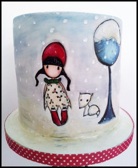 Cake Art By Suzanne : Holly Gorjuss is artist (Suzanne Woolcott) always credit ...