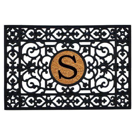 Home ; More Rubber Monogram Doormat - 24 x 36 in., Black