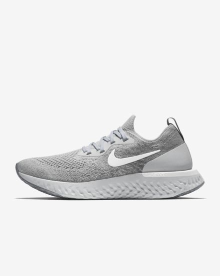 newest 44b2e a98f9 Nike Epic React Flyknit Womens Running Shoe Grey And White, Running Women,  Nike Shoes