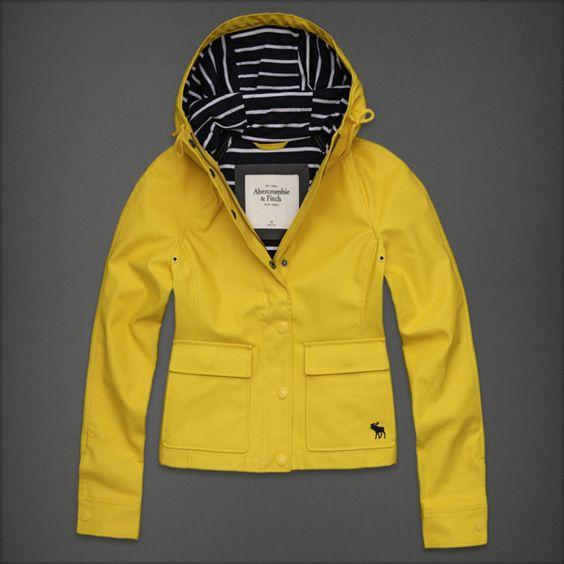 Women&39s Abercrombie &amp Fitch Rain Coat | Rain boots | Pinterest