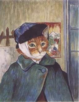Oorspronkelijk: Self-Portrait with Bandaged Ear. Geschilderd door Vincent van Gogh.