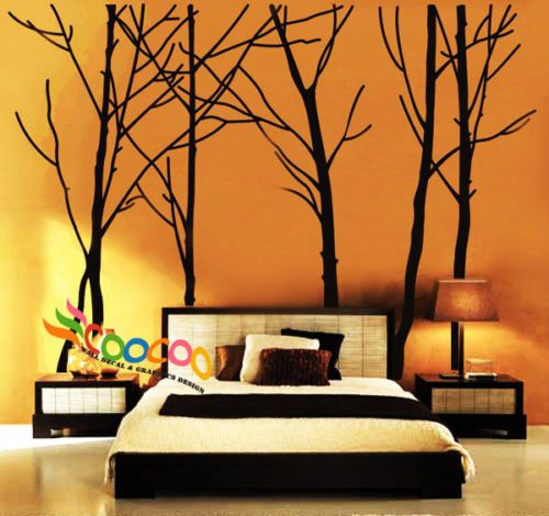 Wall-Decor-Decal-Sticker-vinyl-large-tree-trunk-forest - comes in white. for the mug tree