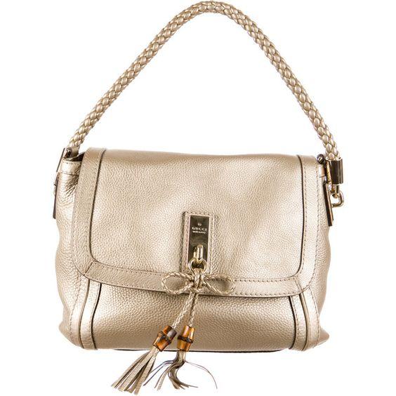 Gucci Bella Shoulder Bag (12.993.610 IDR) ❤ liked on Polyvore featuring bags, handbags, shoulder bags, gucci, bamboo purse, gucci shoulder bag, bamboo handbags and metallic shoulder bag