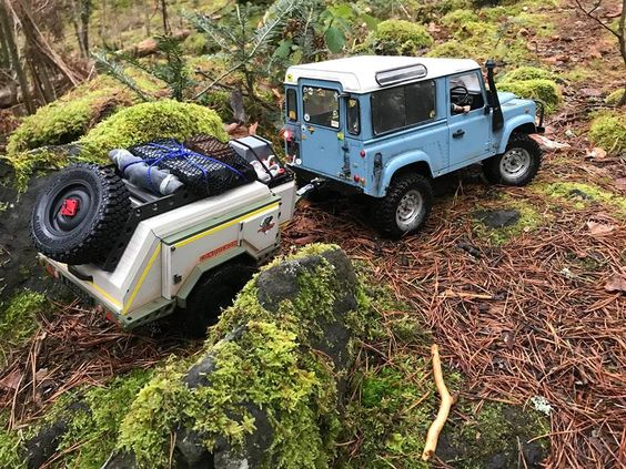 Micro Trailer Supported Adventuring Is Also Cool This 1 10 Scale Rc Setup Has Amazing Detail Photo By Fred Rc Scale Camping Trailer Trailer Diy Camping