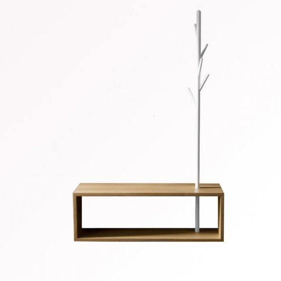 Porte manteau t h ree minimalist made in france for Mobilier minimaliste