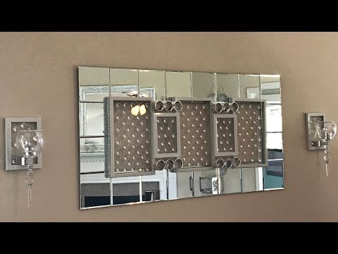 Dollar Tree Diy Glam Wall Mirror And Sconces Bmichellepar Gmail Com 20 5 Inch Square Mirrors 3 Frames With Dollar Tree Mirrors Mirror Frame Diy Diy Mirror