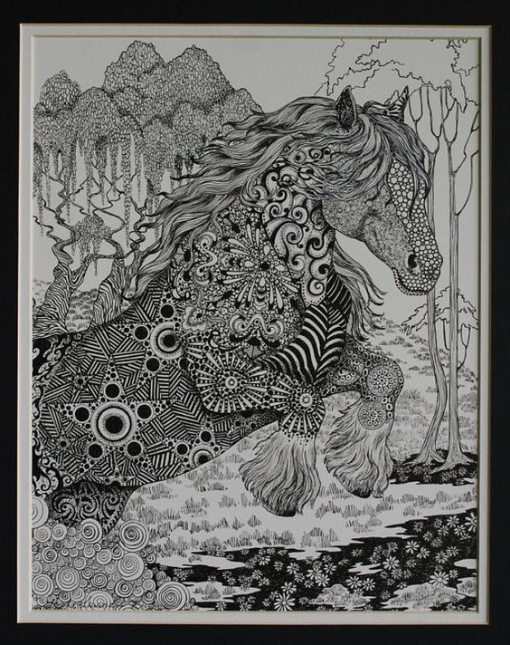 zentangle by LuckyDuckyArt on Etsy