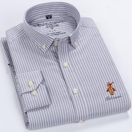 100 Cotton Men S Oxford Shirts High Quality Long Sleeved Button Down Neck Simplicity Soft Clothes Fashion Men Casual Shirt Smart Casual Shirts Casual Shirts For Men Shirt Casual Style