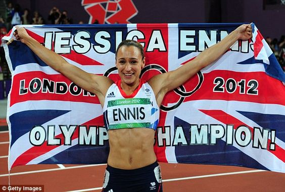 Jess Ennis - makes me proud to be British! What an Olympian!