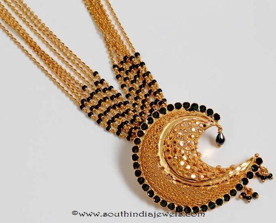 Gold Black Bead Wedding Mangalsutra