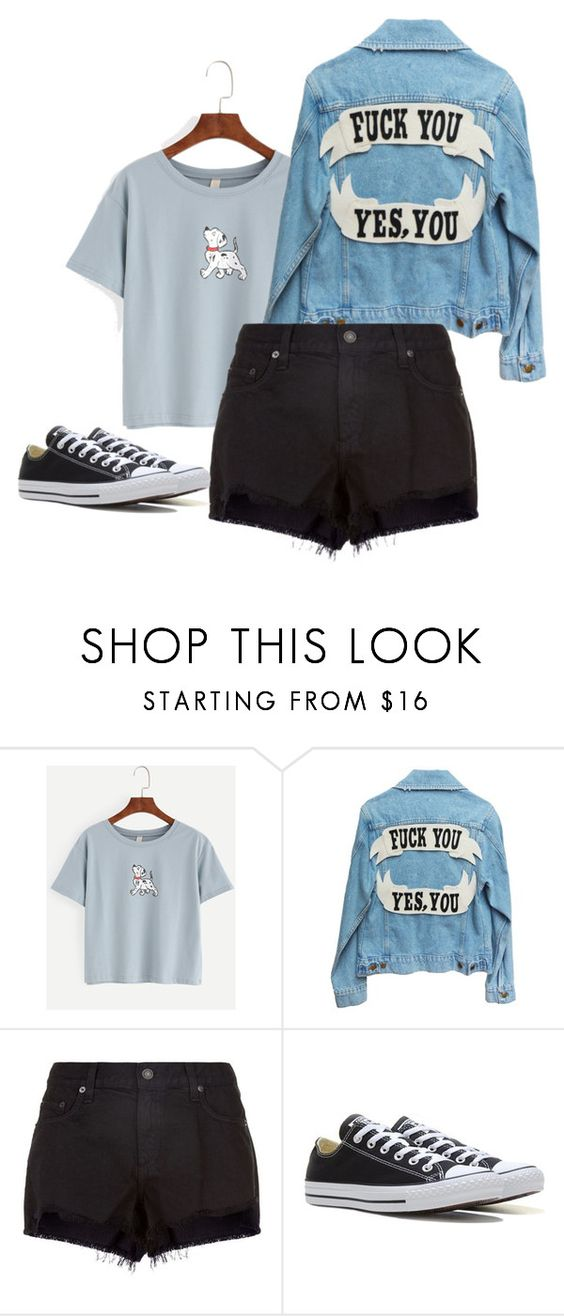 """""""😜😜"""" by deima-835 ❤ liked on Polyvore featuring rag & bone and Converse"""