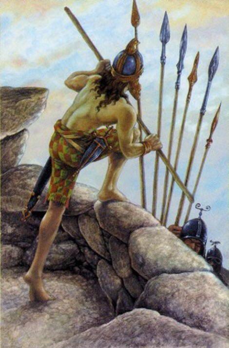 Druid Craft Tarot - Seven of Wands