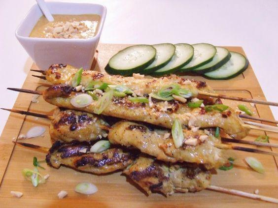 Brochette de poulet Thaï (Satay) et sa sauce Bumbu Kacang