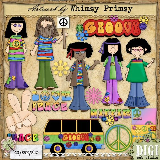 Groovy 60's 1 - Whimsy Primsy Clip Art Download : Digi Web Studio, Clip Art, Printable Crafts & Digital Scrapbooking!
