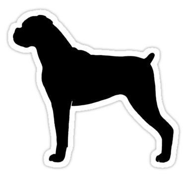 Boxer Dog Silhouette S Sticker By Jenn Inashvili Boxer Dog Tattoo Dog Silhouette Dog Tattoos