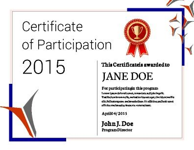 Participation Certificate Template | Participation Certification