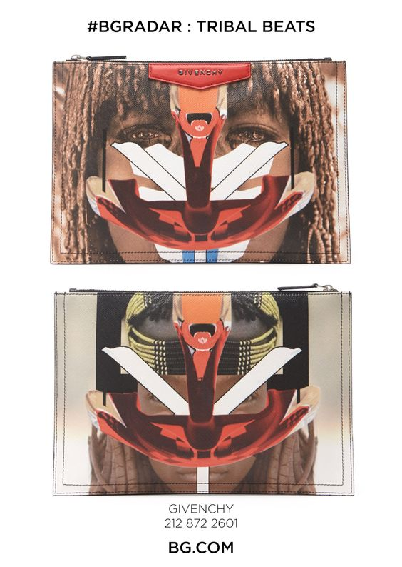 TRIBAL BEATS - tuck a little Givenchy in your bag.