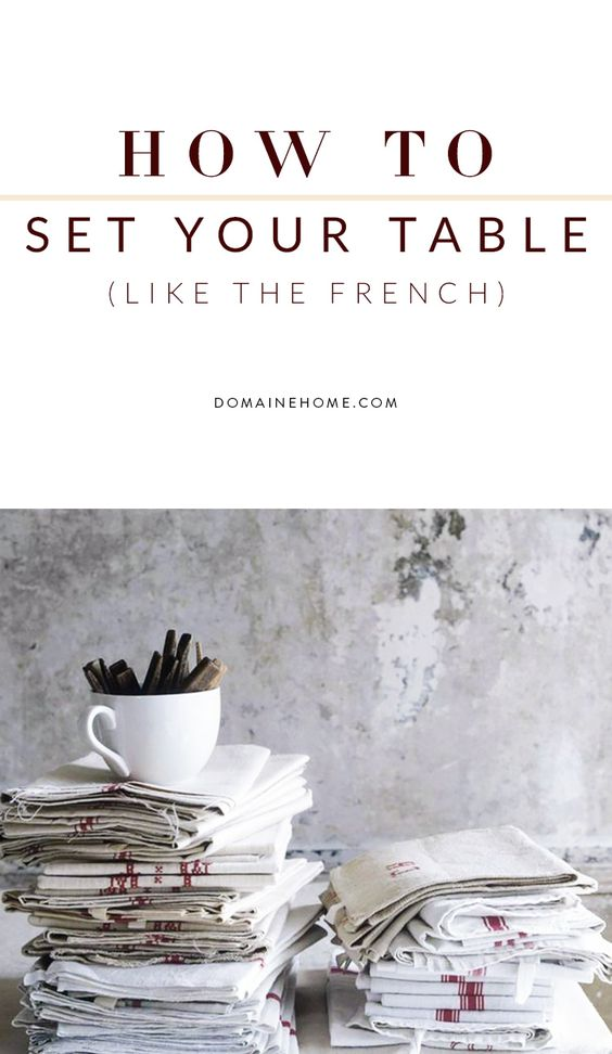 6 steps for setting a table in a manner that looks both chic and effortless.