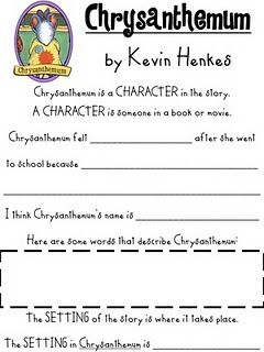 FREE download - Chrysanthemum worksheets | School - Kevin Henkes ...