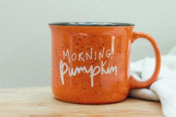 Morning Pumpkin Mug Campfire Mug 15 Oz Pumpkin Spice Mug Etsy Mugs Natural Ceramic Homemade Pumpkin Spice Latte