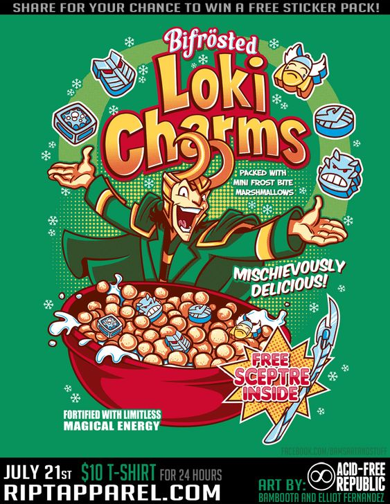 Loki Charms T-Shirt by ~Bamboota on deviantART